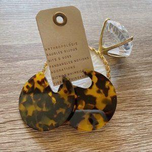 NWT Anthropologie Animal Printed Resin Earrings